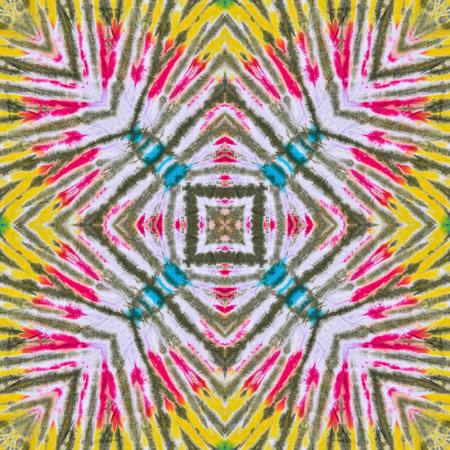 batik: Abstract background pattern made from tie dye fabric,  kaleidoscope  pattern, endless pattern for wallpaper.