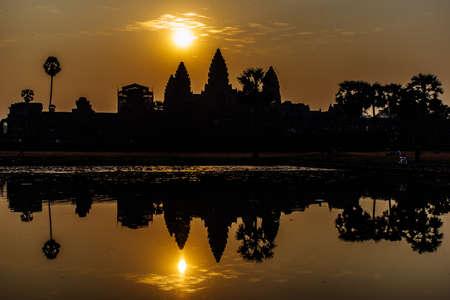 siem reap: Sunrise over Angkor Wat in Siem Reap, Cambodia.