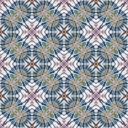 spectral color: Abstract background pattern made from tie dye fabric,  kaleidoscope  pattern, endless pattern for wallpaper.