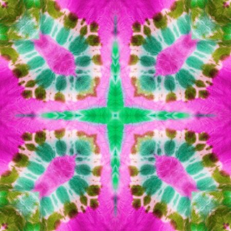 spectral colour: Abstract kaleidoscope or endless pattern made from tie dye fabric for background used.