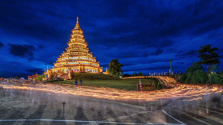 pla: Candle lit at Huay Pla Kung temple in Chiang rai, Thailand.