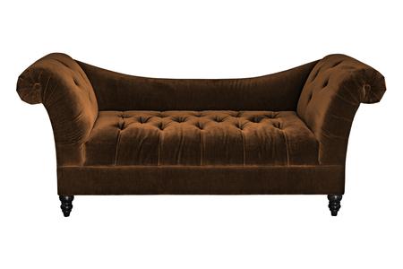 upholstery: Brown sofa upholstery cover of velvet