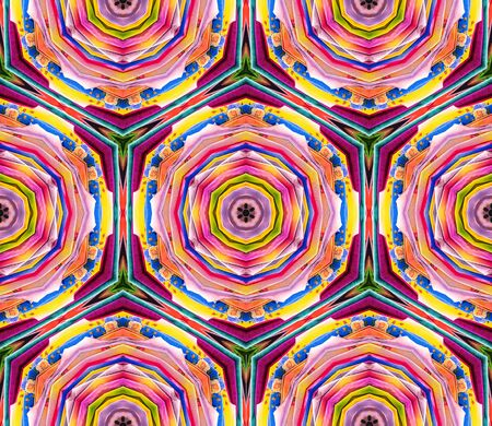 spectral colour: Abstract kaleidoscope or endless pattern made from fabric for background used.