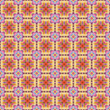 Abstract kaleidoscope or endless pattern made from fabric for background used.