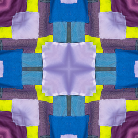 spectral color: Abstract kaleidoscope or endless pattern made from fabric for background used.