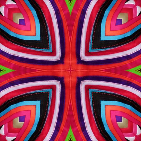 spectral colour: Colorful abstract kaleidoscope or endless pattern made from fabric for background used.