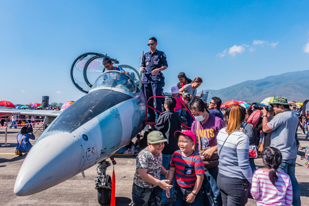CHIANG MAI, THAILAND - JANUARY 14: Military show at Wing41 Airbase on Thai Childrens Day on January 14, 2017 in Chiang mai, Thailand.