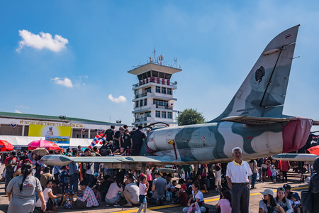 children's show: CHIANG MAI, THAILAND - JANUARY 14: Military show at Wing41 Airbase on Thai Childrens Day on January 14, 2017 in Chiang mai, Thailand.