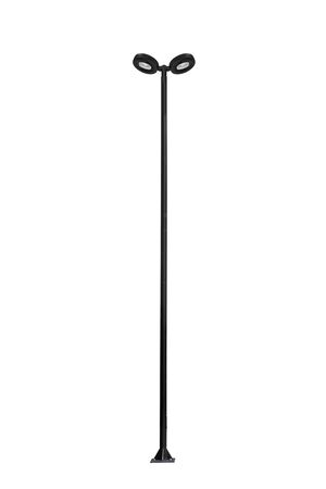 Street Light Pole Isolated On A White Background With Clipping