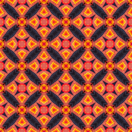 spectral colour: Colorful abstract kaleidoscope or endless pattern for background used.