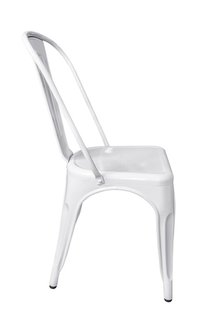 industrail: Steel chair isolated on white background, work with clipping path.