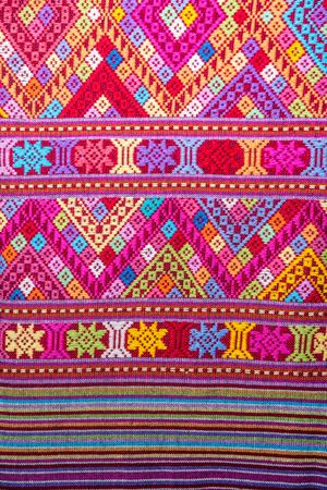 Closeup vintage cotton fabric texture background, Thai style Banque d'images