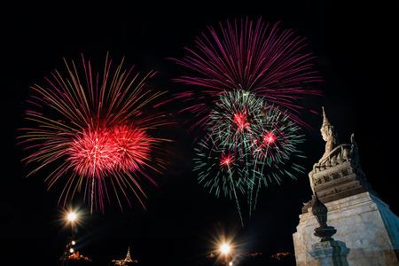 Beautiful Fireworks display in night light