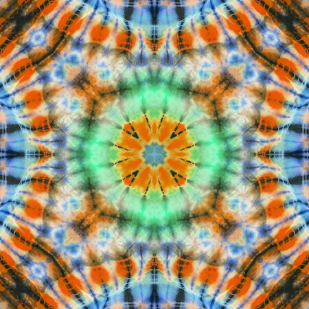 Abstract kaleidoscope or endless pattern for background used.