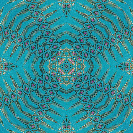 Colorful abstract kaleidoscope or endless pattern for background used.