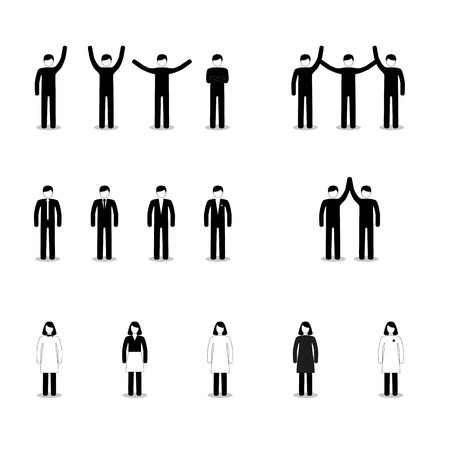 socialize: Set of people icons