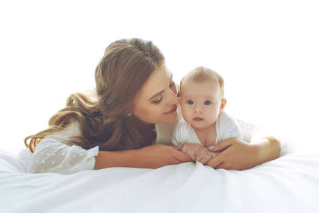 A woman with a baby. Mother and child. High quality photo.