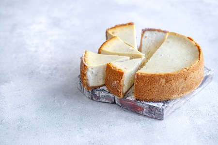 Classic cheesecake. Cream cheese cake. High quality photo.