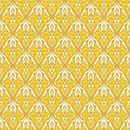 Damask golden seamless pattern. Vintage floral seamless background Standard-Bild - 161770263