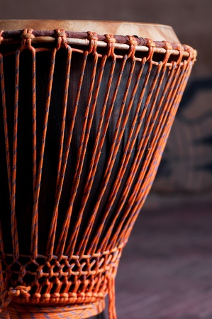 djembe drum: Close up of the Djembe head Stock Photo