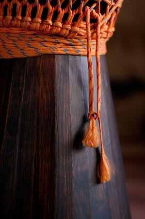 Close up of the Djembe
