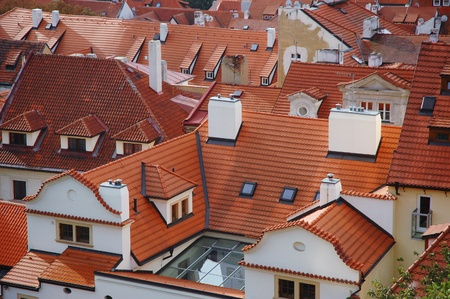 The roofs in Lesser Town, Prague, Czech Republic Stock Photo
