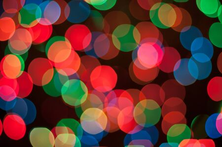 Blurry pattern of colorful decoration lights