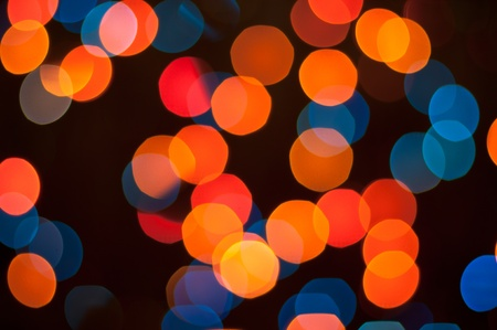 background lights: Blurry pattern of colorful decoration lights