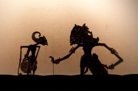 Wayang Kulit, teatro de títeres de Java Foto de archivo - 12635017