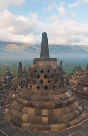 Borobudur temple at sunny morning  Central Java, Indonesia Stock Photo - 12883675