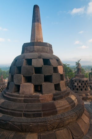 Borobudur temple at sunny morning  Central Java, Indonesia Stock Photo - 12883711