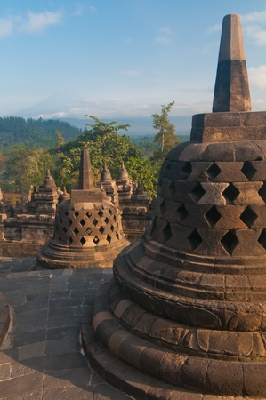 Borobudur temple at sunny morning  Central Java, Indonesia Stock Photo - 12883748