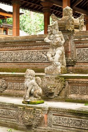 Stutue in Sacred Monkey Forest, Ubud, Bali, Indonesia Stock Photo - 13143276
