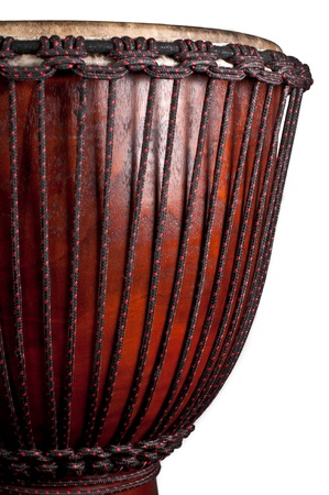 Close up of the djembe isolated on white background