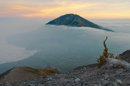 Gunung Merapi Volcano on Java Island in Indonesia