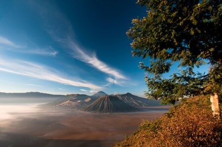 Gunung Bromo Volcano on Java Island in Indonesia