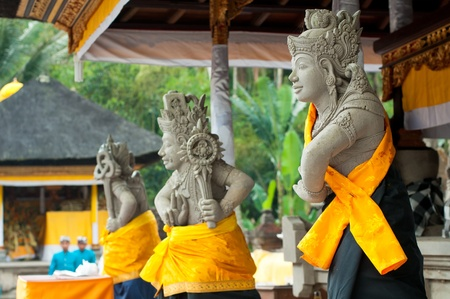 Statues of Balinese demon in Ubud, Indonesia Stock Photo