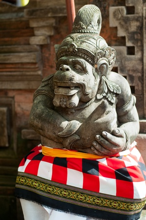 Statue of Balinese demon in Ubud, Indonesia Stock Photo