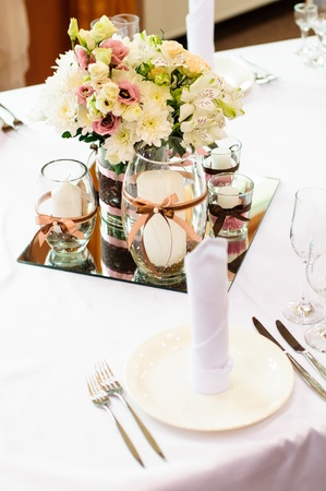 Festive table setting for wedding or other event Stock Photo - 14227436