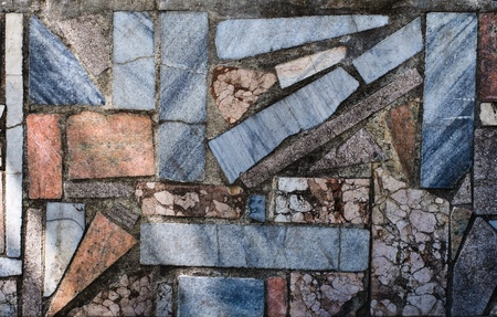 Mosaic stone wall texture  High resolution background