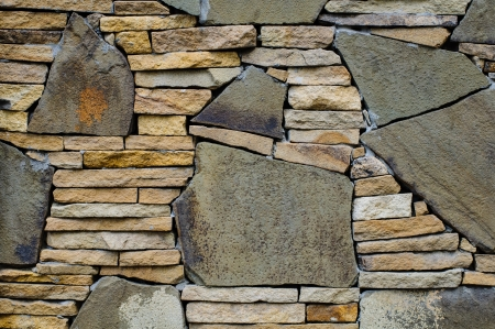 Mosaic stone wall texture. High resolution background Stock Photo