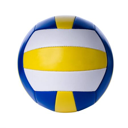 Volleyball ball isolated on white background. Closeup photo