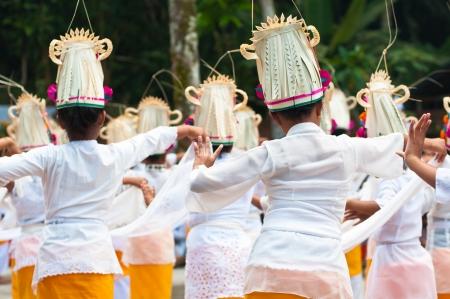 Little girls dance legong, Titra Empul, Bali, Indonesia