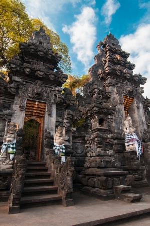 Traditional balinese temple - bat temple Goa Lawah, Bali, Indonesia photo