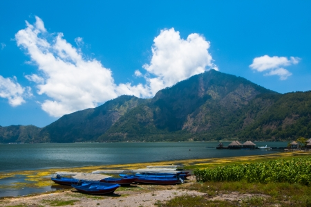 Landscape of Batur volcano and lake Batur. Bali island, Indonesia photo