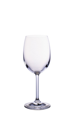 Empty wine glass isolated on white background Stock Photo - 16962287