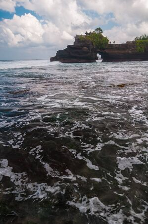 Pura Batu Bolong - small hindu temple near Tanah Lot, Bali, Indonesia Stock Photo - 17429137
