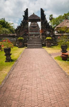 Main gate to Pura Taman Ayun - hindu temple near Mengwi, Bali, Indonesia photo