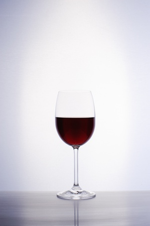 Classic glass of red wine isolated on a white background Stock Photo