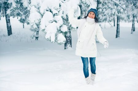 Portrait of beautiful young girl in winter day Stock Photo - 17429273